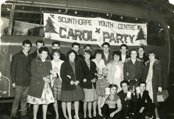 Scunthorpe Youth Centre members ready for a Christmas carol concert party.  Those pictured include Carol and Jean Brown, Wendy Leek, Linda Lyndsey, Anne Dixon, Josie Haynes, Jean and Janet Tindle, Roy Jepson, Phil Cousins, Ernie Peasgood, Roger Hunter and John Featherstone.