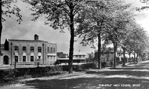 The Girls' High School, Brigg, taken from Wrawby Road looking north west.
