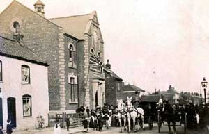 The official opening of Ashby Free Library.
