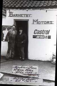 Maurice and Irene Wilson of Barnetby Motors in April 1989