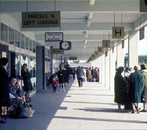 The concourse of Scunthorpe Bus Station soon after opening c.1968