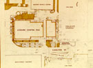 Plans showing the proposed location of Scunthorpe Leisure Centre, Carlton Street, c.1970's.