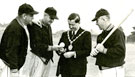 Mayor Gerard McQuade meeting with American Baseball players, c.1957-1958.