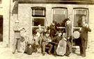 Family photograph taken in front of the Dining Room window of the Manor House at Brigg, 10th October 1892.